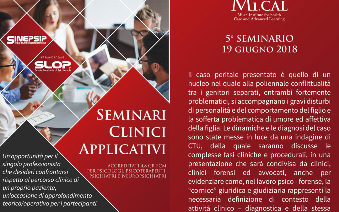 19/06/18 – 5° SEMINARIO CLINICO APPLICATIVO