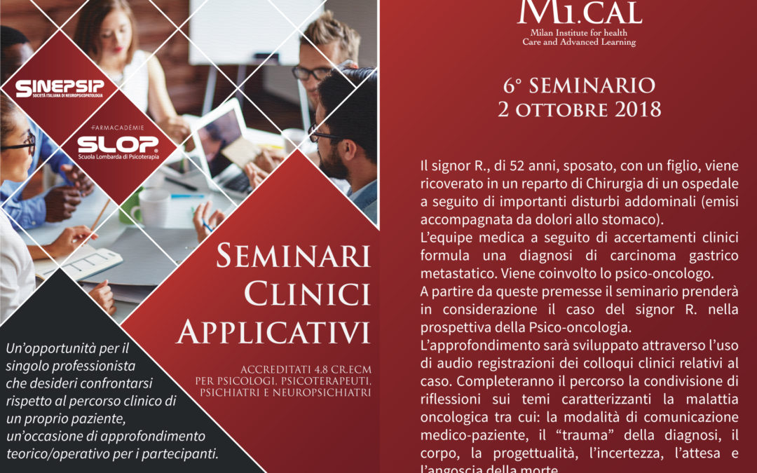 02/10/18 – 6° SEMINARIO CLINICO APPLICATIVO