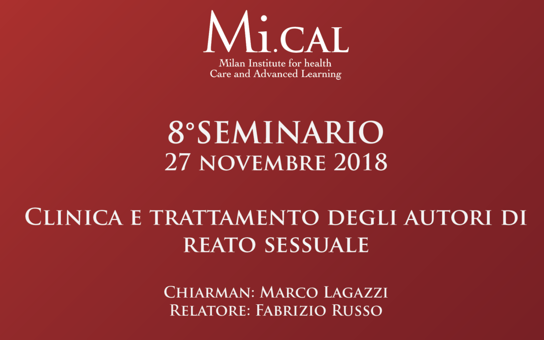 27/11/18 – 8° SEMINARIO CLINICO APPLICATIVO