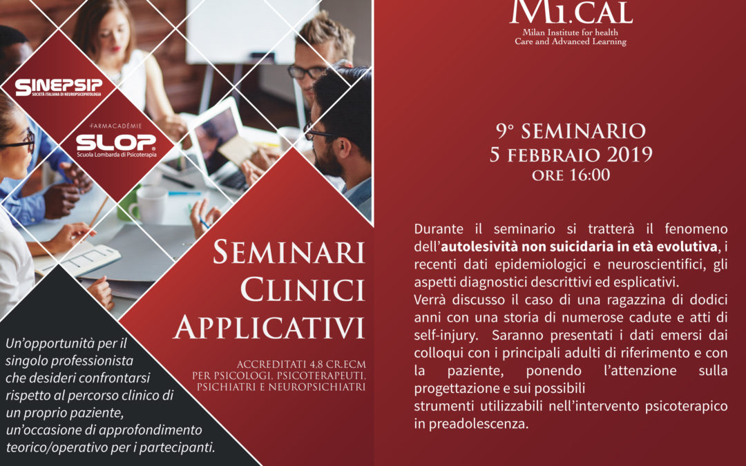 27/11/18 – 9° SEMINARIO CLINICO APPLICATIVO